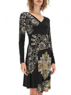 Wzorzysta sukienka z kopertowym dekoltem Desigual GINA