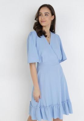 Niebieska Sukienka Coraexie