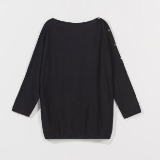 Mohito - Sweter z ozdobnymi guzikami - Czarny