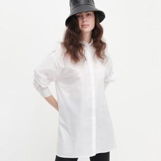Reserved - Długa koszula oversize - Biały