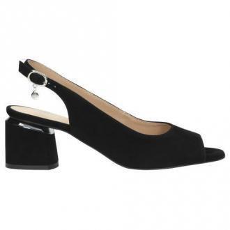 Wojas Pełne Elegancji Czarne Sandały