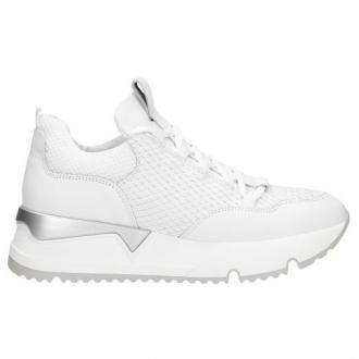 Wojas Ponadczasowe Wygodne Białe Damskie Sneakersy