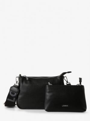 L.Credi - Damska torebka na ramię z wewnętrzną torebką – Hailey, czarny