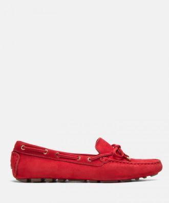 Czerwone mokasyny damskie