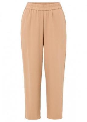 Spodnie culotte 7/8 bonprix wielbłądzia wełna