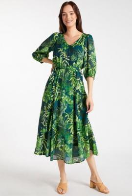 Sukienka midi z wiązaniem