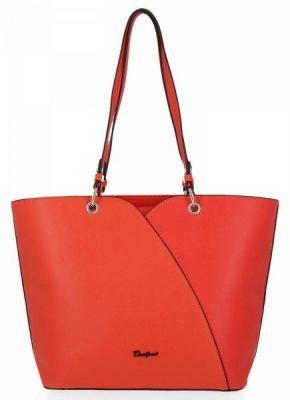 Klasyczna torebka damska David Jones Ciemno Pomarańczowa