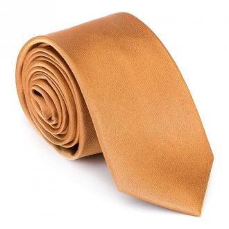 Krawat jedwabny bez wzoru
