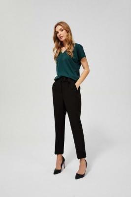 Spodnie w kant czarne z wysokim stanem