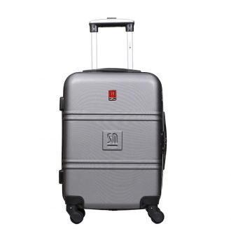 walizka kabinowa Art Class Collection 55 cm srebrna