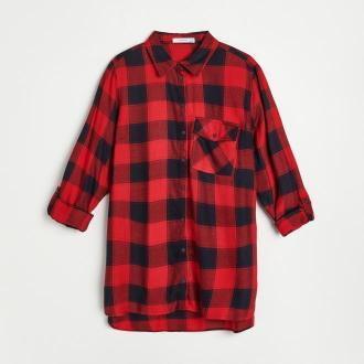 Reserved - Koszula w kratę - Czerwony