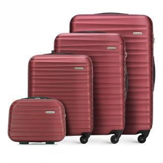 Zestaw walizek z ABS-u z żebrowaniem