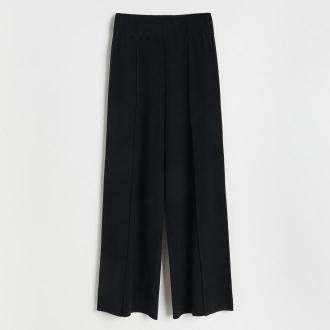 Reserved - Dzianinowe spodnie palazzo - Czarny