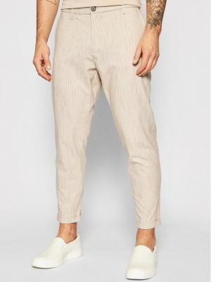 Imperial Spodnie materiałowe PWB0BME Beżowy Slim Fit