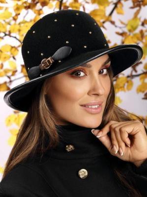 Wełniany elegancki kapelusz damski L'AF TANAR-018