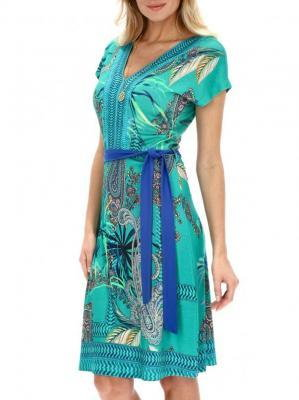 Letnia turkusowa sukienka Smashed Lemon 21192-635-998