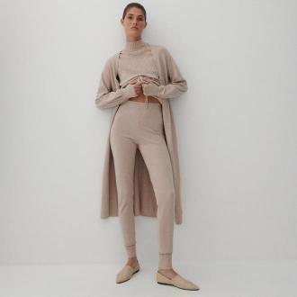 Reserved - Dzianinowe spodnie LENZING™ ECOVERO™ - Wielobarwny