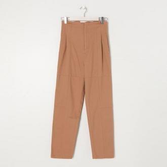 Sinsay - Spodnie z wysokim stanem - Brązowy