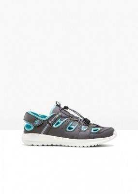Sandały trekkingowe Lico bonprix szaro-turkusowy