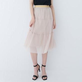 Mohito - Plisowana spódnica midi - Beżowy