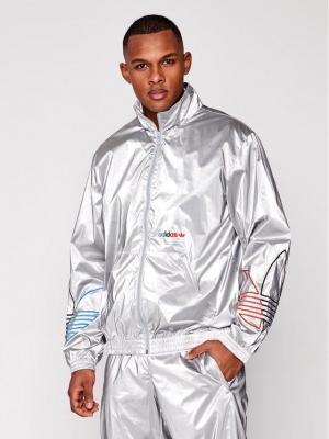 adidas Kurtka przejściowa Tricol GN4208 Srebrny Regular Fit