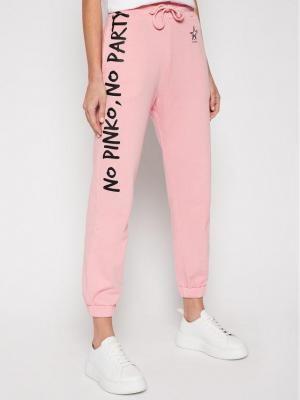 Pinko Spodnie dresowe Enologia PE 21 PRR 1N1342 Y7ED Różowy Regular Fit