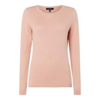 Sweter z oczkami z fakturą model 'Care'