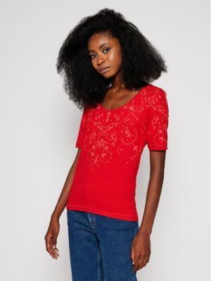 Desigual T-Shirt Lyon 20WWTKAR Czerwony Regular Fit