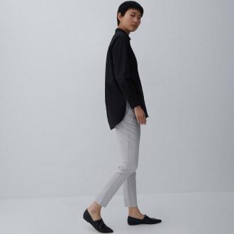 Reserved - Gładkie spodnie chino - Jasny szary