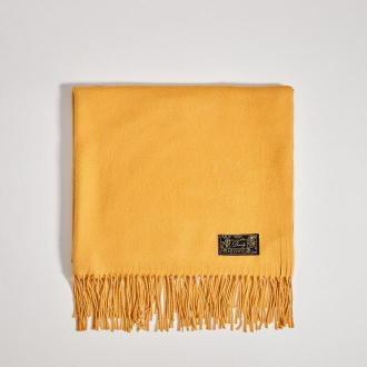 Mohito - Gładki szalik z frędzlami - Żółty