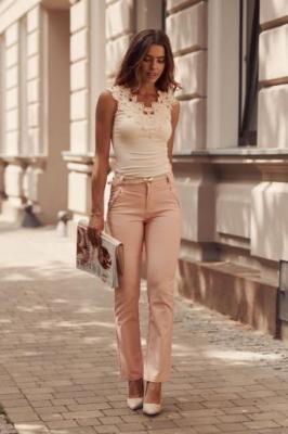 Eleganckie spodnie łososiowe 16940
