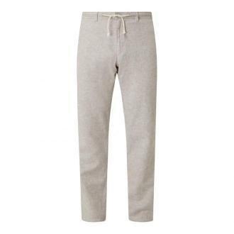 Spodnie sportowe z mieszanki lnu i bawełny