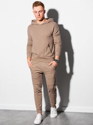 Komplet męski bluza + spodnie Z24 - jasnobrązowy - XXL