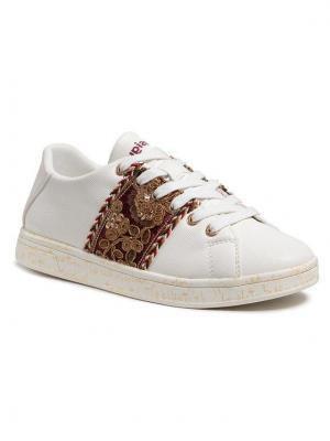 Desigual Sneakersy Cosmic Exotic Lettering 21SSKP09 Biały