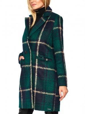 Zielony płaszcz w kratę Rino & Pelle BABET 700W20