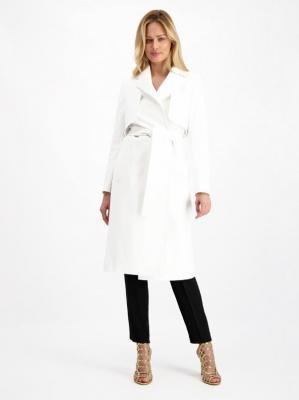 Elegancki biały płaszcz Lavard Woman 84949