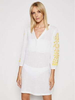 Chantelle Sukienka plażowa Garden C13J60 Biały Regular Fit