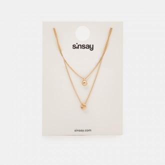 Sinsay - Naszyjnik kaskadowy - Złoty