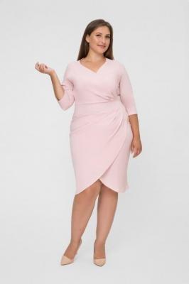 MONIQUE PEACH dopasowana sukienka plus size : Rozmiar - 44