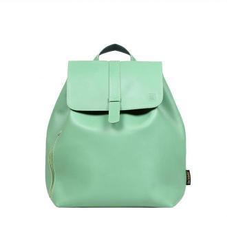 plecak skórzany Esterka zielony