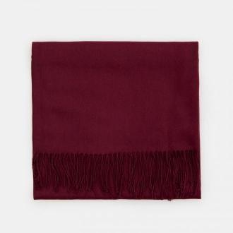 Mohito - Gładki szalik z wiskozą - Bordowy