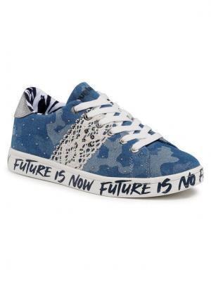 Desigual Sneakersy Cosmic Militar 21SSKD02 Niebieski