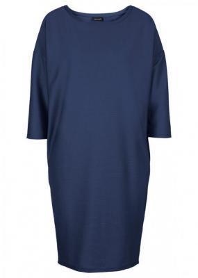 Sukienka z dżerseju, rękawy 3/4 bonprix ciemnoniebieski
