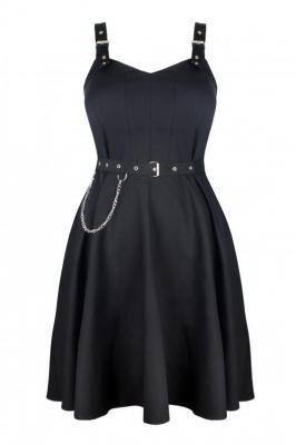 ZOJA BLACK rockowa sukienka plus size : size - 56/58