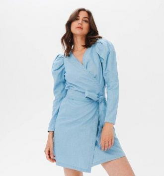 Sukienka z bawełny i lnu