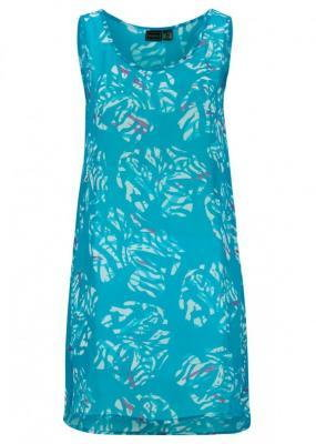 Sukienka plażowa bonprix ciemnoturkusowy z nadrukiem
