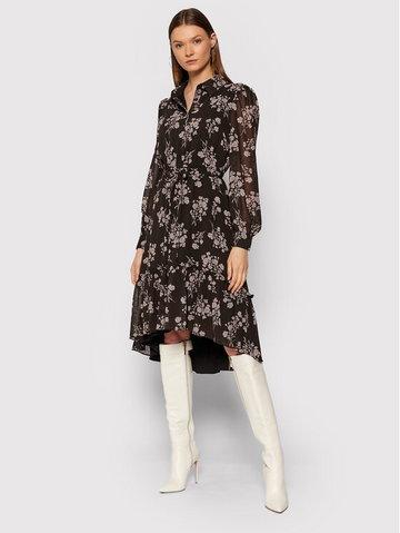 Sukienka koszulowa Tie Waist 1018-007364-0689-581 Czarny Regular Fit
