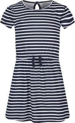 Regatta Catriona Dress Kids, niebieski/biały 3-4 Y   104 2021 Sukienki