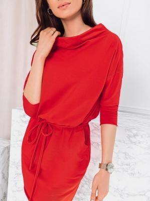 Sukienka damska 009DLR - czerwona - S/M