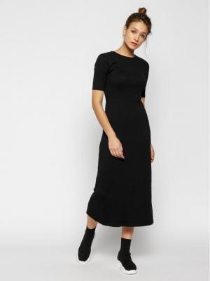 Calvin Klein Sukienka dzianinowa Rib Jersey K20K201822 Czarny Slim Fit